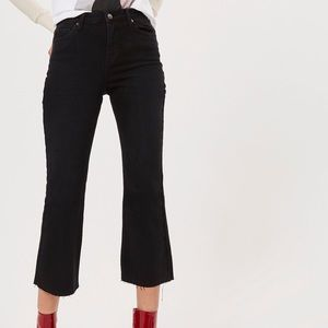 Topshop Washed Black Dree Cropped Jeans size 28